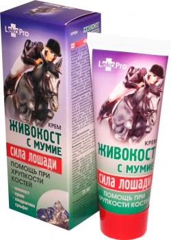 фото Крем Живокост с мумие «Сила лошади» живокост с мумие